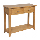 Devon Oak 2 Drawer Console