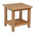 Devon Oak Lamp Table with Shelf