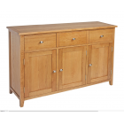 Devon Oak 3 Drawer Sideboard