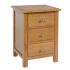 Devon Oak 3 Drawer Bedside